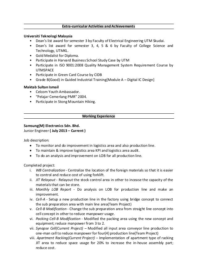 resume mohd nasiruddin