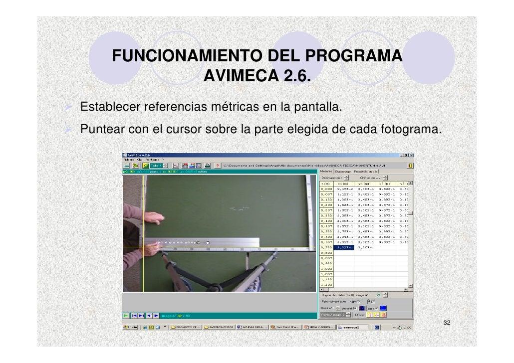 FUNCIONAMIENTO DEL PROGRAMA              AVIMECA 2.6. Establecer referencias métricas en la pantalla. Puntear con el curso...