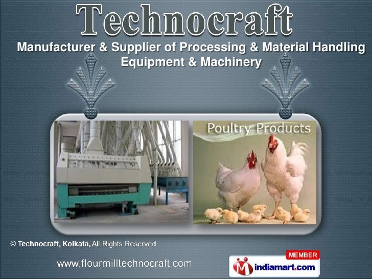 Manufacturer & Supplier of Processing & Material Handling                Equipment & Machinery