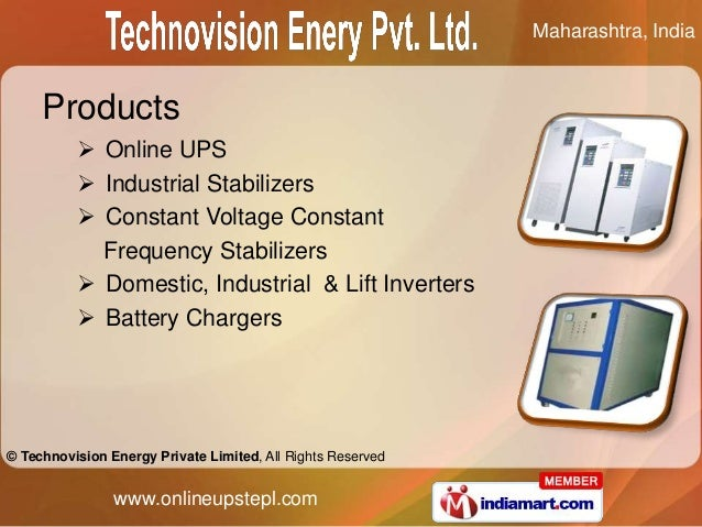 Maharashtra, India     Products           Online UPS           Industrial Stabilizers           Constant Voltage Consta...