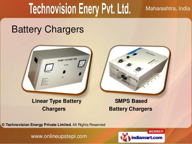 Maharashtra, India     Battery Chargers                Linear Type Battery                            SMPS Based          ...