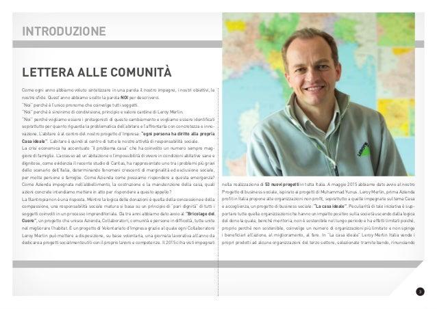 Report leroy merlin italia 2015 for Leroy merlin csr