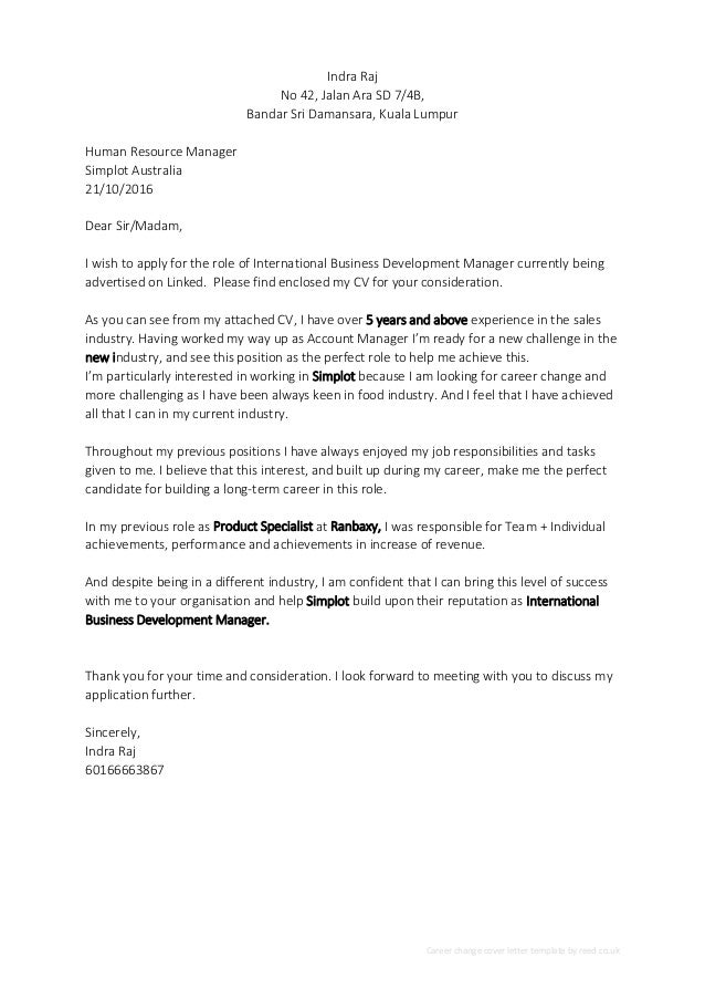 Career Change Cover Letter Template from image.slidesharecdn.com
