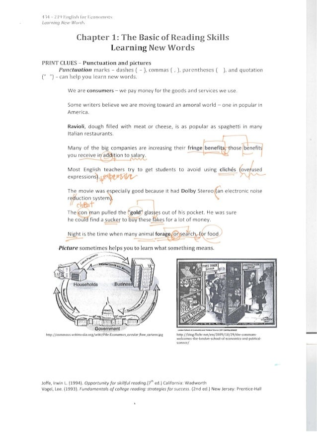 ,nf - 21<) J:llglisil lor 1:COI101111;lst.carnint] New W()n/,Chapter 1: The Basic of Reading SkillsLearning New WordsPRINT...