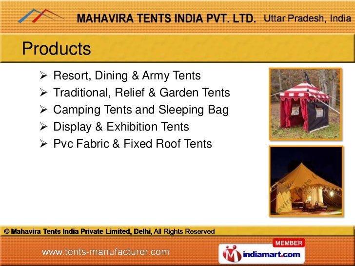 Resort Tent By Mahavira Tents India Private Limited Delhi