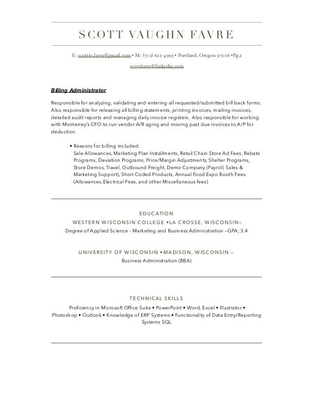 Business Administration Resume
