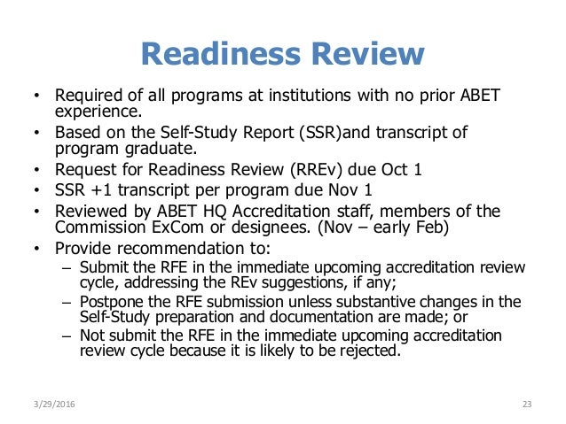 Preparing for ABET EAC Evaluation Visit r032916