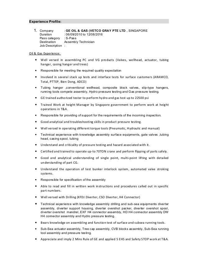 Assembly Technician Job Description. Image Format Jpg Sample