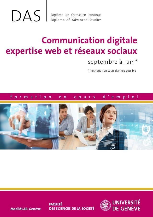 Communication digitale expertise web et réseaux sociaux septembre à juin* f o r m a t i o n e n c o u r s d ' e m p l o i ...