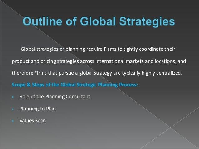 Globolization And Global Strategic Planning