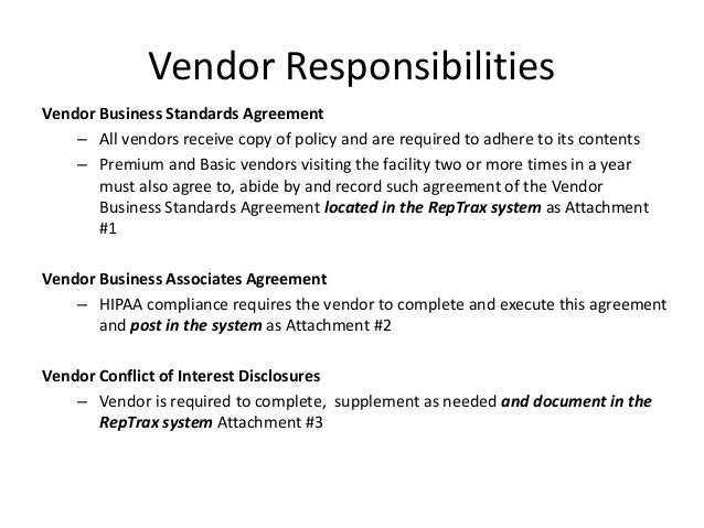 Vendor Agreement