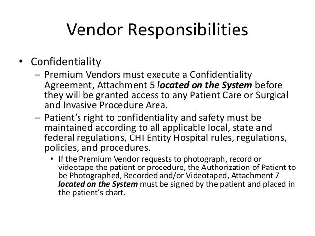 Vendor Confidentiality Agreements  Resume Template Sample