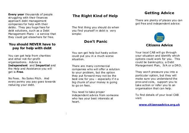 Leaflet - where to find help Slide 2