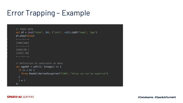 Error Trapping – Example ContinuedError Trapping – Example Continued