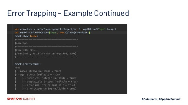 Error Trapping – Example Continued