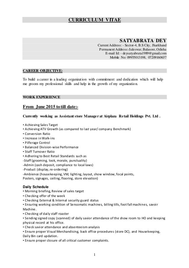 Resume Of Satya Pgdm In Marketing With 4 7 Year Experience