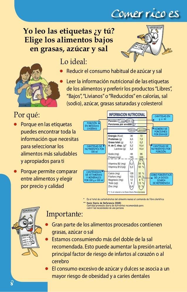 43864975 triptico alimentacion - Como calcular las calorias de los alimentos que consumo ...