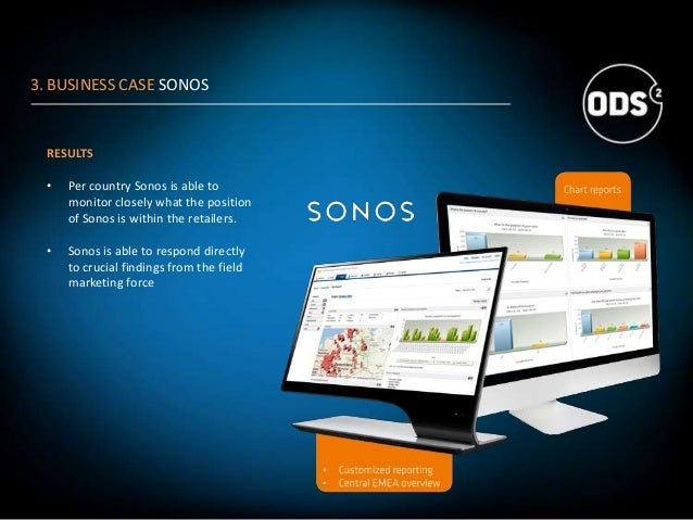 RESULTS • Per country Sonos is able to monitor closely what the position of Sonos is within the retailers. • Sonos is able...