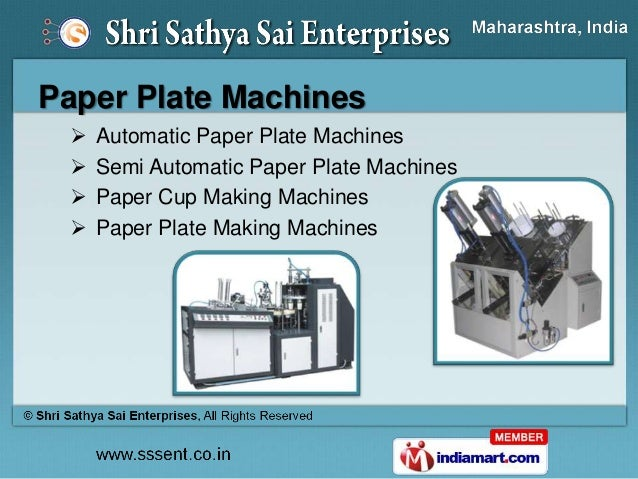 ... Machines Paper Plate Making Dies; 8. Paper ...  sc 1 st  SlideShare & Paper Plate Making Machines \u0026 Products by Shri Sathya Sai Enterprises\u2026