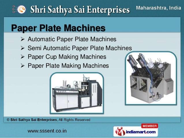... Machines Paper Plate Making Dies; 8. Paper ...  sc 1 st  SlideShare & Paper Plate Making Machines \u0026 Products by Shri Sathya Sai Enterprises\u2026