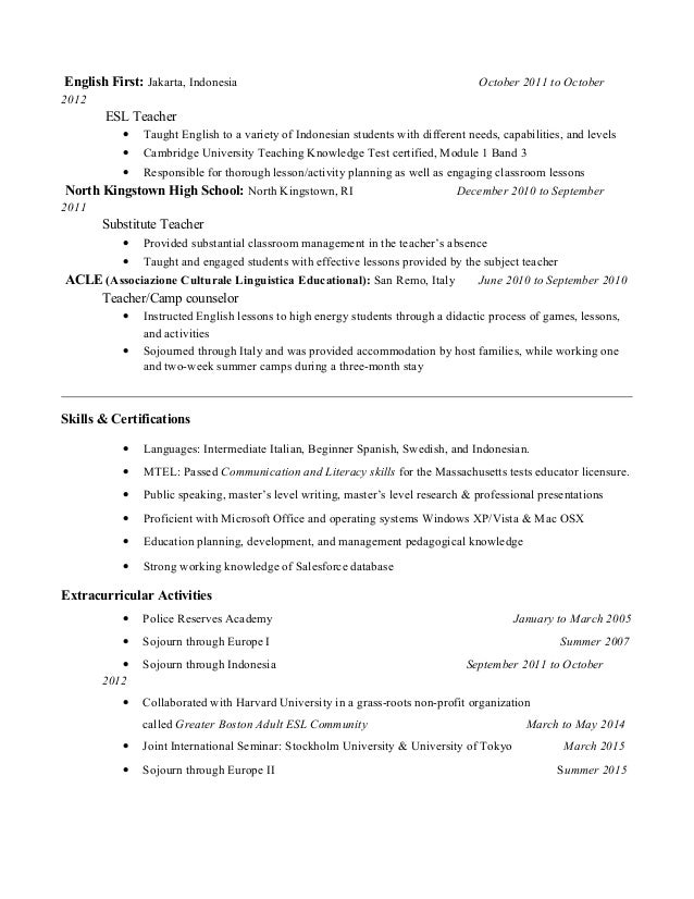 ldfteacherresume-2-638 Sample Curriculum Vitae Personal Driver on latest format, medical student, for accountant partner, cover letter, for chiropractors, offer letter, for administrative assistant, fresh graduate,