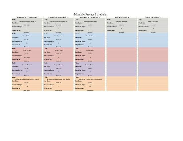 mock ergonomics proposal schedule