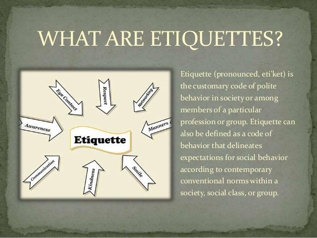 BUSINESS ETIQUETTES Slide 2