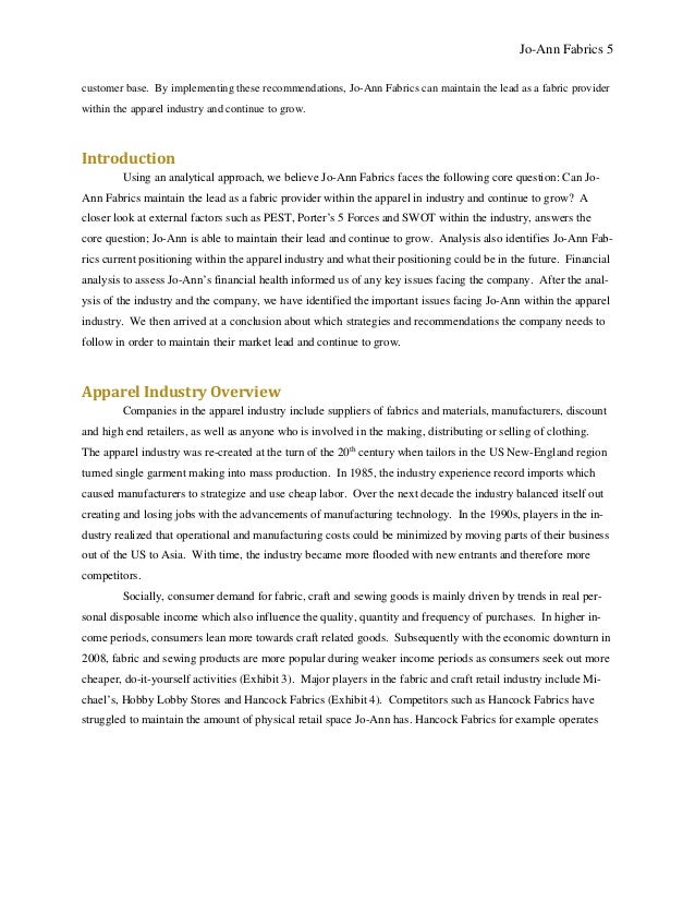 Jo-Ann Final Report