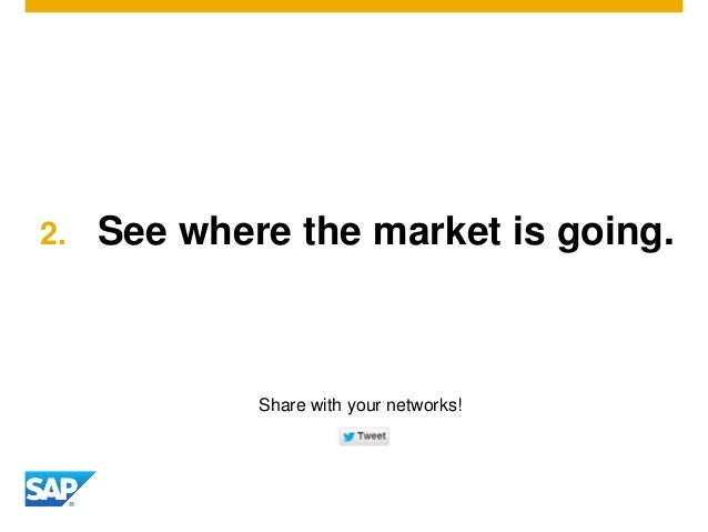 2. See where the market is going. Share with your networks!