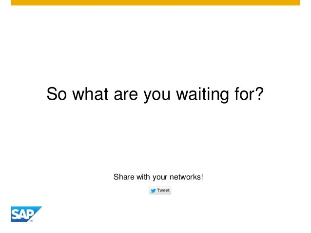 So what are you waiting for? Share with your networks!