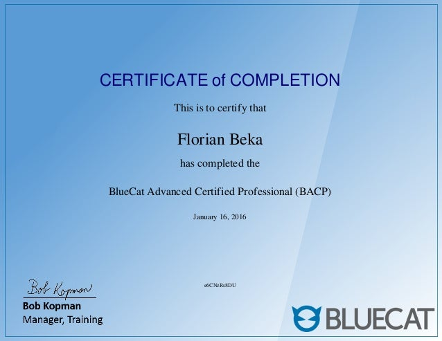 Bacp Certification Bluecat Advanced Certified Professional