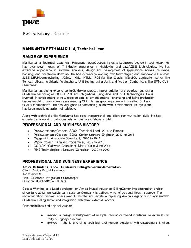 guidewire resume