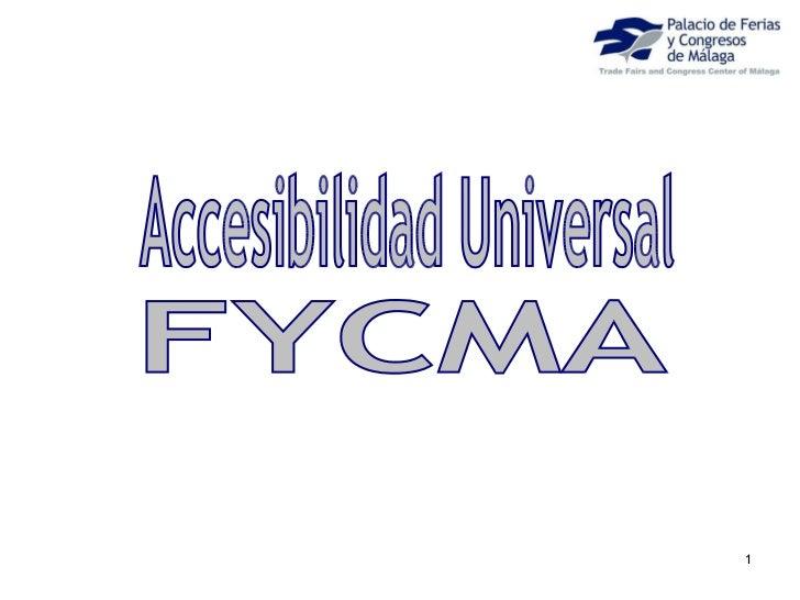 Foro de Accesibilidad y Turismo de Andalucía Lab. Rafael de la Paz, palacio de Ferias y Congresos de Málaga
