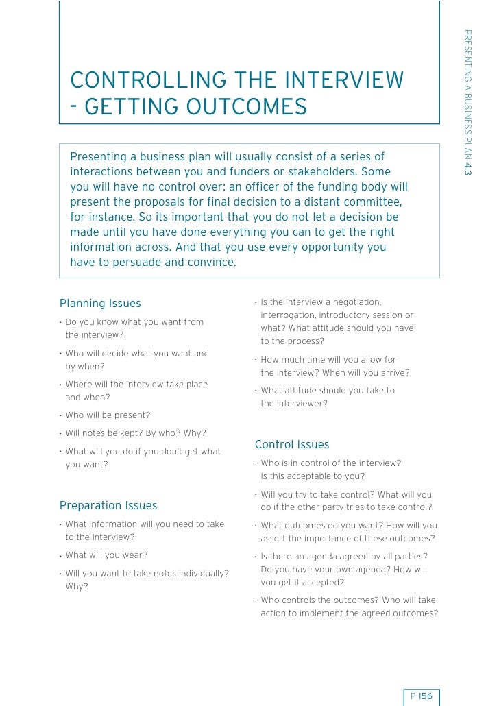 43 presenting business plan