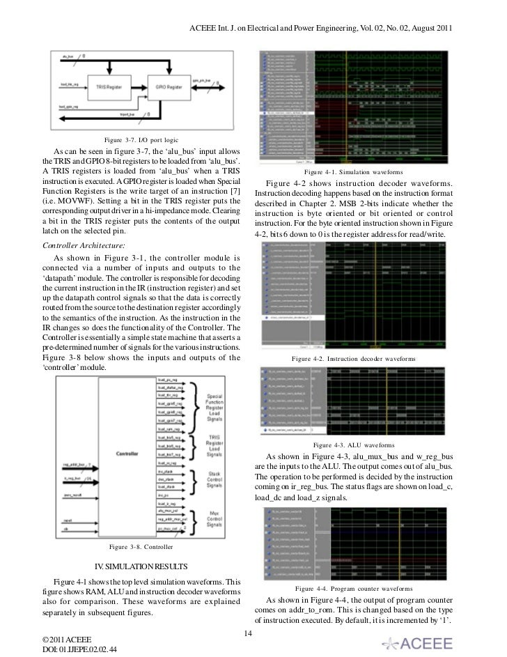 implementation of risc processor in fpga A soft microprocessor is a microprocessor core that can be wholly implemented  using logic  the number of soft processors on a single fpga is limited only by  the size of the fpga  cpu website microprocessor cores on opencoresorg ( expand the processor tab) niktech 32 bit risc microprocessor manik.