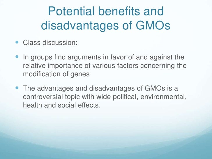 advantage and disadvantage of biotechnology in the agriculture Biotechnology is essentially the use of technology to make biological processes benifit mankind advantages include: the design of diagnostic kits the creation of genome analysis tools through bioinformatics genetic engineering techniques to improve food crops molecular biology method to help understand the nature of diseases finding targets for drugs molecular breeding methods to help improve.