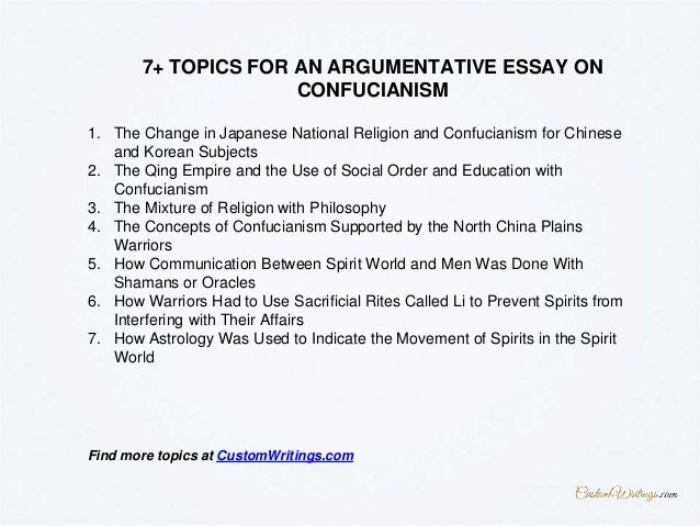 Essay on confucianism