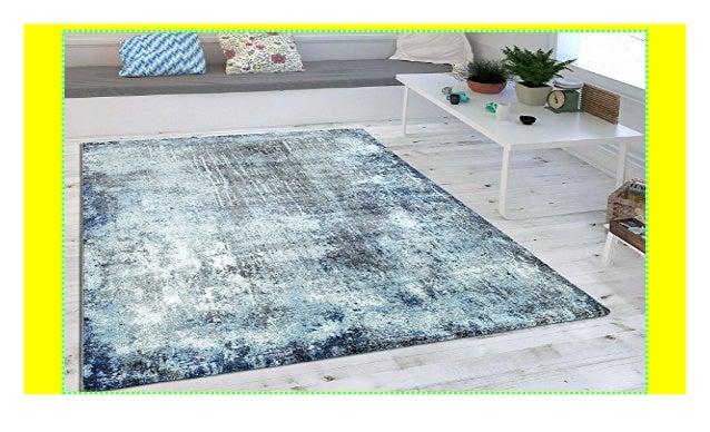 Wohnzimmer Teppich Indigo Blau Trend Modern Maritimer Stil