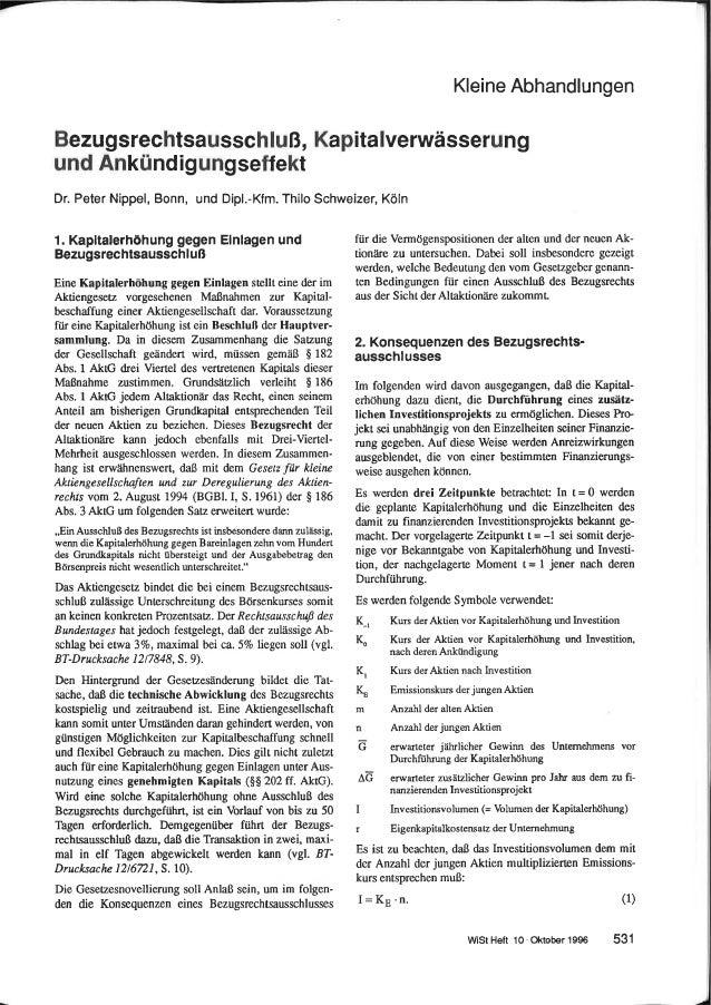 Nippel  Schweizer WiSt 1996