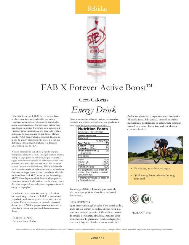La bebida de energía FAB X Forever Active Boostte ofrece una alternativa saludable que incluyevitaminas, aminoácidos y ele...