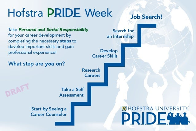 PRIDETake Personal and Social Responsibilityfor your career development bycompleting the necessary steps todevelop importa...