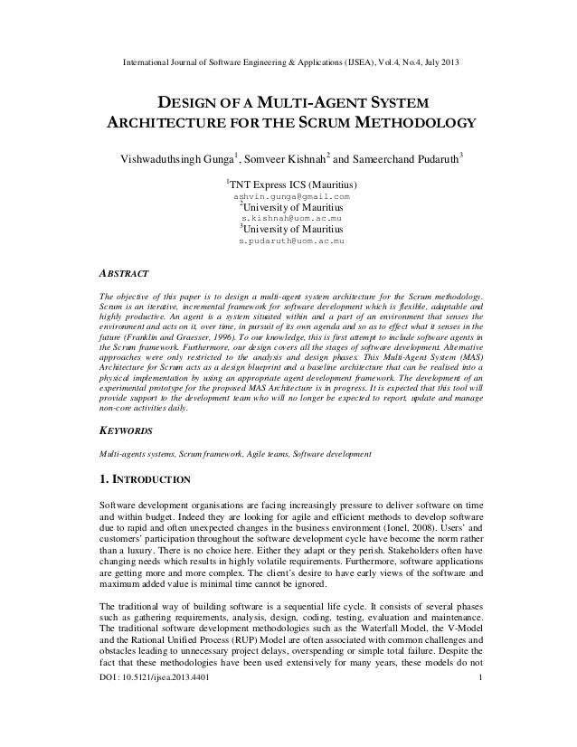 International Journal of Software Engineering & Applications (IJSEA), Vol.4, No.4, July 2013 DOI : 10.5121/ijsea.2013.4401...