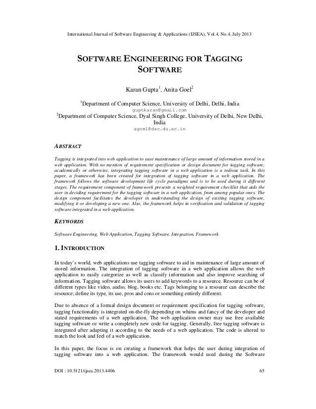 International Journal of Software Engineering & Applications (IJSEA), Vol.4, No.4, July 2013 DOI : 10.5121/ijsea.2013.4406...