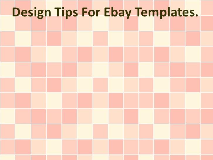 Design Tips For Ebay Templates.