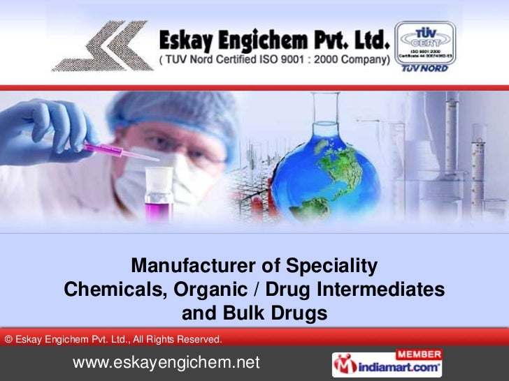 Manufacturer of Speciality Chemicals, Organic / Drug Intermediates and Bulk Drugs<br />