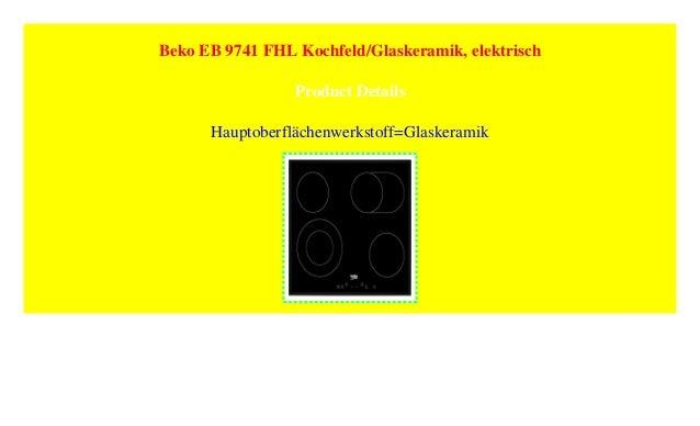 Beko Eb 9741 Fhl Kochfeld Glaskeramik Elektrisch