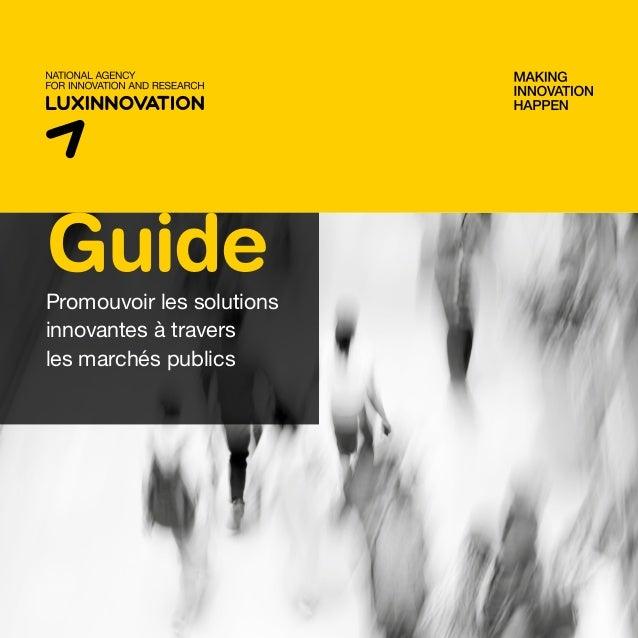 GuidePromouvoir les solutions innovantes à travers les marchés publics
