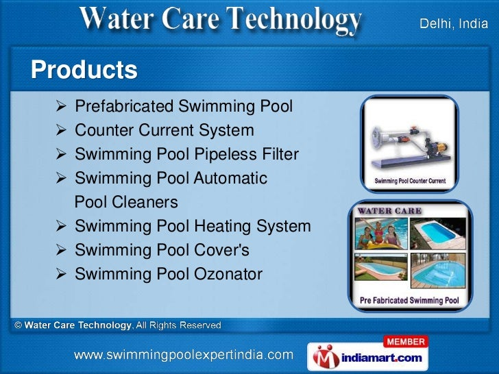 Prefabricated swimming pool by water care technology new delhi for Prefab swimming pools cost in india