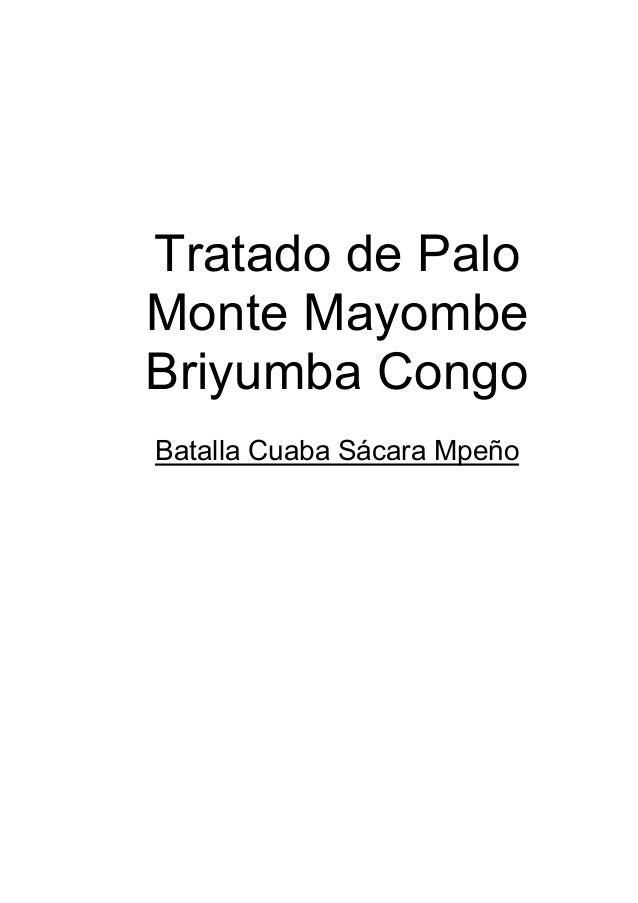 Tratado de Palo Monte Mayombe Briyumba Congo Batalla Cuaba Sácara Mpeño