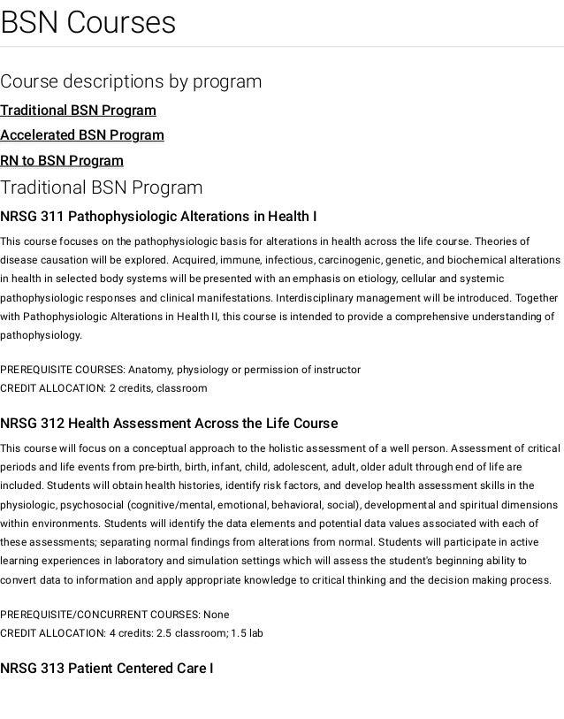 Bsn Courses Nursing University Of Nebraska Medical Center